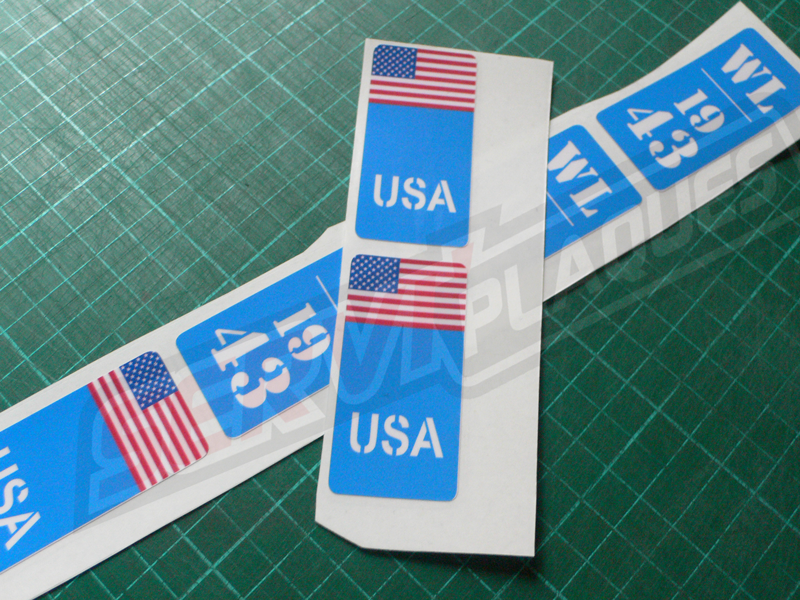 Sticker Fute usa
